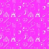 Розовые безшовные картин-медицинские детали Стоковые Фотографии RF