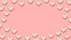 Розовые блюда сердца иллюстрация вектора