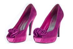 розовые ботинки высоких пяток Стоковое Изображение