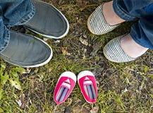 Розовые ботинки младенца Стоковые Фото