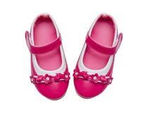 Розовые ботинки ребенка Стоковое Изображение