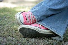 Розовые ботинки Стоковое фото RF