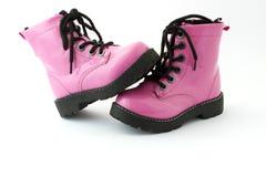 розовые ботинки Стоковое Изображение