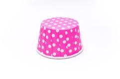 Розовые бумажные стаканчики точки польки Стоковые Изображения RF