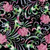 Розовые винтажные барочные цветки Стоковое фото RF