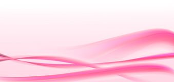 розовые волны valentines Стоковая Фотография