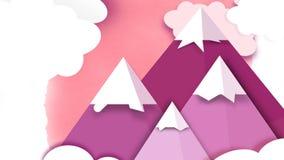 Розовые горы Infographic Стоковые Изображения RF