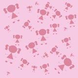 Розовые девушки Стоковое Изображение RF