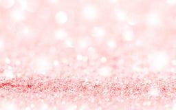 Розовые звезды и предпосылка Bokeh Стоковые Фото