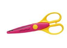 Розовые изолированные ножницы Стоковая Фотография RF
