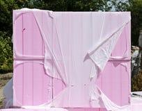 Розовые изолируя обернутые доски стоковое изображение rf