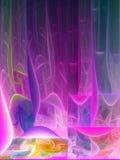 Розовые линии фрактали Стоковое Фото