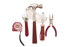 розовые инструменты стоковые фотографии rf