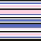 Розовые и голубые нашивки моды конструируют иллюстрацию, год сбора винограда 30s a Стоковое Изображение