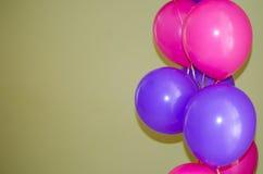 Розовые и фиолетовые шарики Стоковые Изображения RF