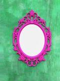 Розовые картинные рамки или зеркала Стоковые Фотографии RF