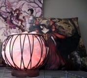 Розовые кварты лампы клетки Стоковая Фотография