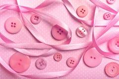 Розовые кнопки Стоковые Изображения RF