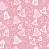 Розовые колоколы и картина цветков безшовная бесплатная иллюстрация