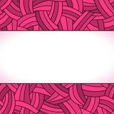 Розовые нарисованный вручную линии предпосылка Стоковые Изображения RF
