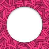 Розовые нарисованный вручную линии предпосылка Стоковая Фотография