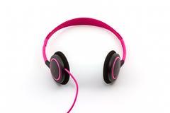 Розовые наушники Стоковые Фотографии RF
