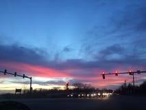 Розовые небеса Стоковое Фото