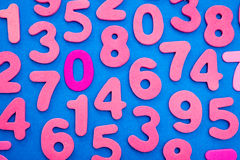 Розовые номера на сини Стоковые Фотографии RF