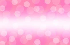 Розовые обои предпосылки конспекта bokeh Стоковые Изображения