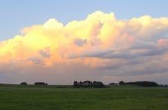 Розовые облака Стоковые Фотографии RF