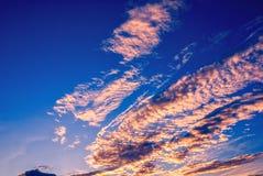Розовые облака Стоковая Фотография RF