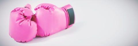 Розовые перчатки на белой предпосылке Стоковые Изображения RF
