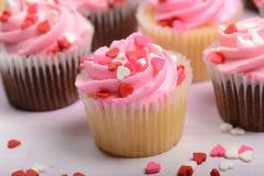 Розовые пирожня Стоковая Фотография