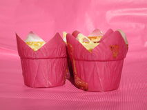 Розовые пирожня Стоковое Фото