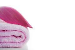 розовые полотенца Стоковые Изображения