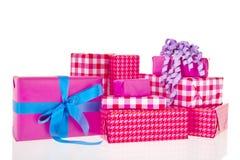Розовые подарки Стоковое Фото