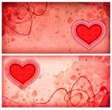 Розовые предпосылки с сердцем Стоковая Фотография RF