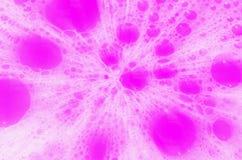 Розовые пузыри мыла для фонового изображения Стоковые Изображения RF