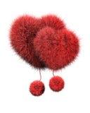 Розовые пушистые сердца Стоковая Фотография RF