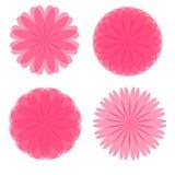 Розовые ретро цветки стоковые изображения