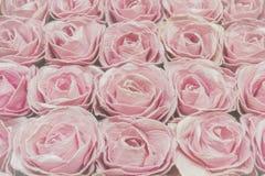 Розовые розы предпосылка, малая глубина поля Ретро ins года сбора винограда Стоковая Фотография RF
