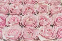 Розовые розы предпосылка, малая глубина поля Ретро ins года сбора винограда Стоковое Фото