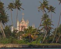 Розовые руины церков Стоковое Изображение RF