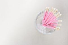 розовые ручки печениь в стекле Стоковое Изображение RF