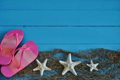 Розовые рыбы кувырка и белых звезды Стоковое фото RF