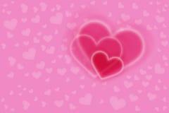 Розовые сердца стоковые фото