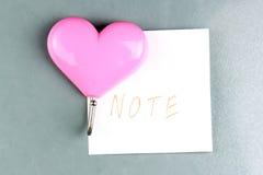 Розовые сердца магнитов Стоковое Изображение RF