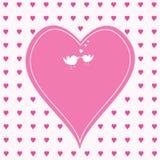 Розовые сердца с большое одним в середине Стоковое Изображение