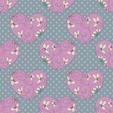 Розовые сердца Стоковые Изображения RF