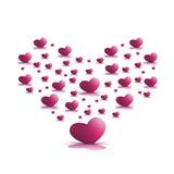 Розовые сердца Иллюстрация штока